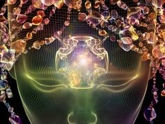 Glow of Thought - stock illustration