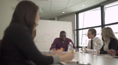 A Professional Black Man Leading a Meeting (3 of 3) - stock footage
