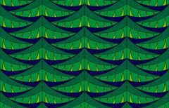 Fir seamless pattern - stock illustration