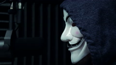 Anonymous Hacker on the Air Stock Footage