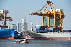 BANGKOK, February 26,2015: Port Authority of Thailand - stock photo