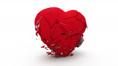 Abstract Heart collapses under its own weight HD video 1080 (slow motion) Stock Footage