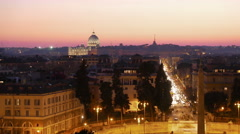 Stock Video Footage of Piazza del Popolo. Rome, Italy