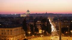 Piazza del Popolo. Rome, Italy Stock Footage