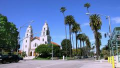 4K, UHD, Church on Santa Monica boulevard in Beverly Hills, Los Angeles - stock footage