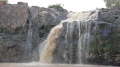 Tad Lo Waterfall, closer look,Tad Lo,Laos Stock Footage