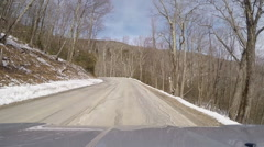 Twisting winding mountain road Stock Footage