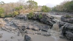 Tad Hang waterfall,Tad Lo,Laos Stock Footage