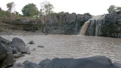 Tad Lo Waterfall,Tad Lo,Laos Stock Footage