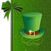 Leprechaun hat with gold buckle Stock Illustration
