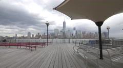 The Exchange Place in Jersey City Stock Footage