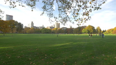 Quite afternoon in Central Park New York City Stock Footage
