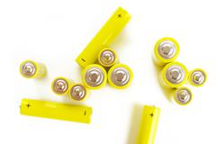 Battery on a white background Stock Photos