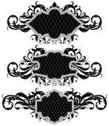 set of ornamental frames - stock illustration