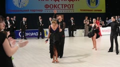 Ballroom dancers  perform at the competition Stock Footage
