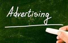 Advertising concept Stock Photos