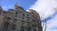 Gaudí Casa Batllo Stock Footage
