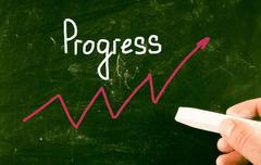 Stock Photo of progress concept