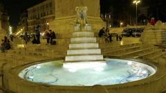 Piazza del Popolo.  Egyptian obelisk. Rome, Italy  - stock footage