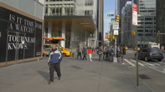 Crossroad at the Bank of America Tower in New York City Stock Footage
