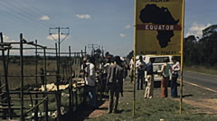 Kenya 1977: european tourists visiting the Country Stock Footage