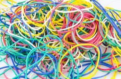 Colored rubber bands - stock photo
