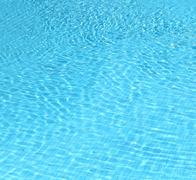 photo blue water in the pool - stock photo