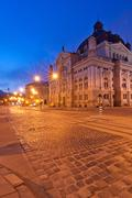 Lviv National Academic Opera and Ballet Theatre  in the evening - stock photo