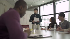 A Hispanic Man Leading a Meeting (2 of 3) Stock Footage