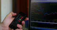 Update Online For Financial Data 4k - stock footage