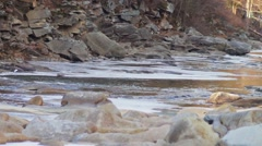 Stock Video Footage of Mountain river runs rapidly