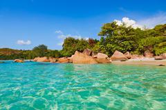 Beach Anse Lazio - Seychelles - stock photo