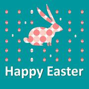 Happy Easter card with rabbit - stock illustration