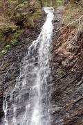 Waterfall  Zhanetsky Guk in Carpathians. Ukraine - stock photo