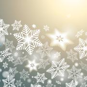 Winter background with snowflakes Stock Illustration
