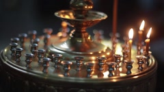 church candle christen - stock footage