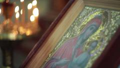 Church candle icon Stock Footage
