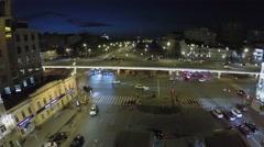 Transport traffic on Tsvetnoy boulevard and Garden Ring Stock Footage