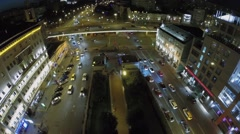 Tsvetnoy boulevard and Garden Ring with traffic Stock Footage