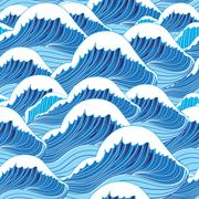 Sea wave pattern Stock Illustration