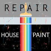 Repair with paint brush Stock Illustration