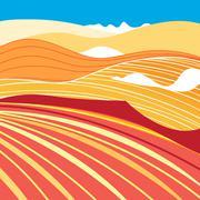 illustration desert - stock illustration