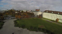 Aerial view on Heroes square in Vienna Stock Footage