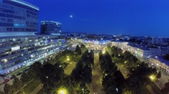 City traffic on Tsvetnoy boulevard and Trubnaya square at summer Stock Footage