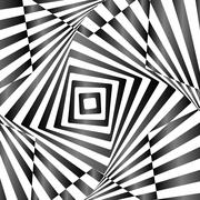 Stock Illustration of Illusion of wavy rotation movement. Op art design. Vector art.