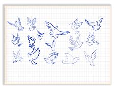 Concept of love or peace. Set of white vector doves. - stock illustration