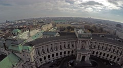 Stock Video Footage of View from above on Hofburg, former imeprial palace in Vienna