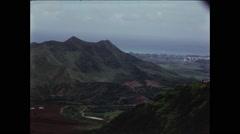 Mountains in Hawaii Looking Towards Pearl Harbor - stock footage