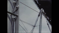 Ship Masts Pass Under Bridge Stock Footage