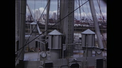 CU of Deck on SS President Cleveland San Fran Stock Footage